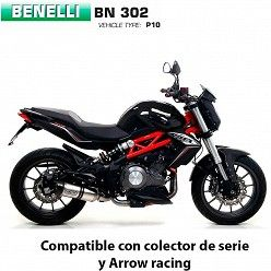 Escape Benelli BN 302 2017-2019 Arrow Thunder Aluminio copa Carbono