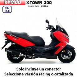 Escape Kymco X-Town 2017-2019 Arrow Urban Aluminio Dark