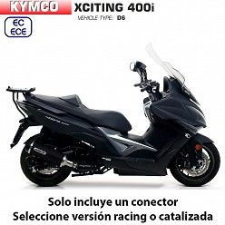 Escape Kymco Xciting 400 2017-2019 Arrow Urban Aluminio Dark