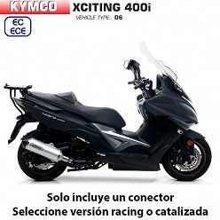 Escape Kymco Xciting 400 2017-2019 Arrow Race-Tech Aluminio copa Carbono