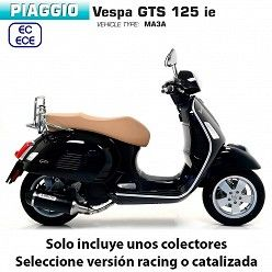 Escape completo Vespa GTS 125 2017-2019 Arrow Urban Aluminio Dark