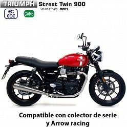 Escapes Triumph Street Twin 900 2017-2019 Arrow ProRacing Nichrom