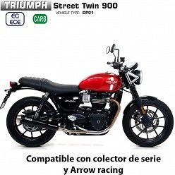 Escapes Triumph Street Twin 900 2017-2019 Arrow ProRacing Nichrom Dark