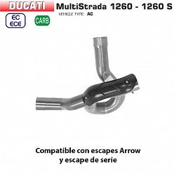Descatalizador Arrow Ducati Multistrada 1260 - S