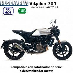 Escape Arrow Husqvarna Vitpilen 701 Works Titanio copa Carbono