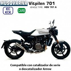 Escape Arrow Husqvarna Vitpilen 701 ProRace Titanio