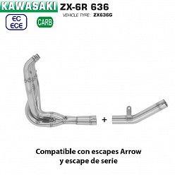 Colectores Kawasaki ZX-6R 636 2019 Arrow