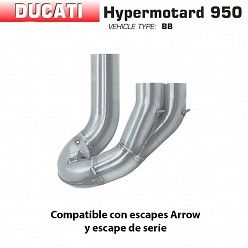 Descatalizador Ducati Hypermotard 950 - SP 2019 Arrow inox