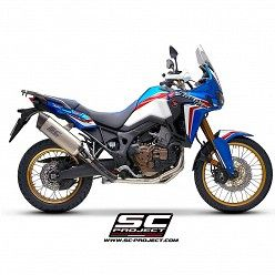 Escape completo Honda CRF 1000L Africa Twin SC-Project Adventure full Titanio copa Carbono H16-TC85T
