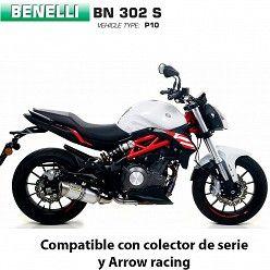 Escape Benelli BN 302 Arrow Thunder Aluminio copa Inox