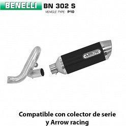 Escape Benelli BN 302 Arrow Thunder Aluminio Dark copa Inox