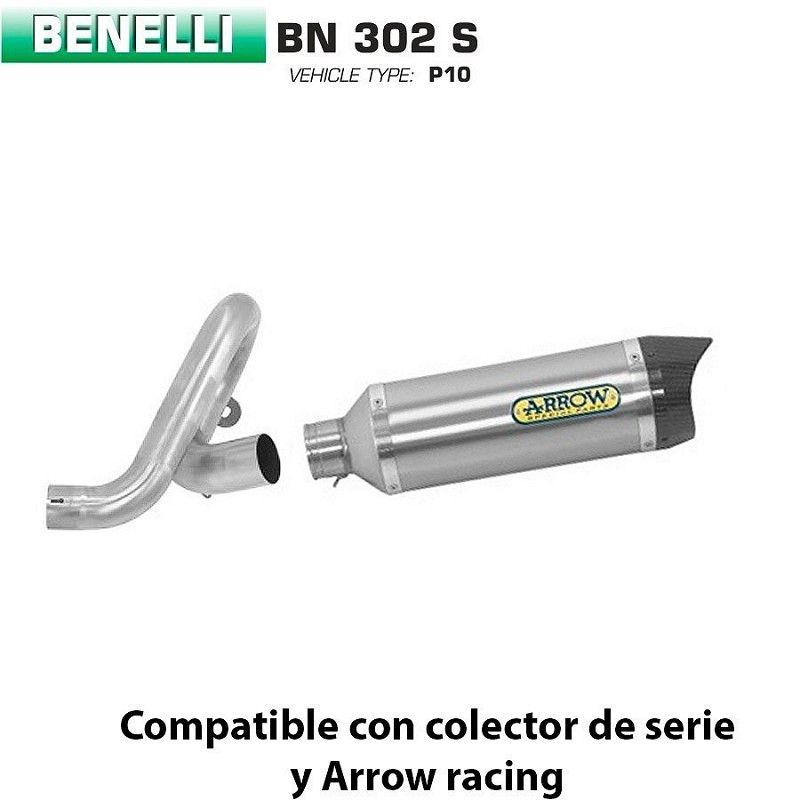 Escape Benelli BN 302 Arrow Thunder Titanio copa Carbono