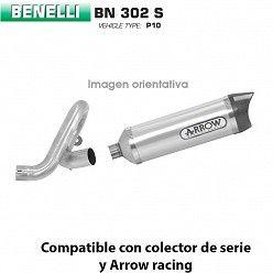 Escape Benelli BN 302 Arrow Thunder Aluminio copa Carbono