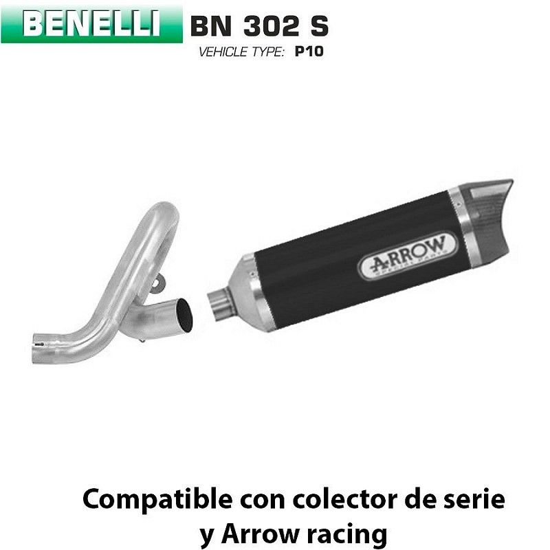 Escape Benelli BN 302 Arrow Thunder Aluminio Dark copa Carbono