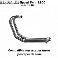 Colectores Triumph Speed Twin 1200 Arrow