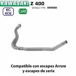 Colectores Kawasaki Z400 Arrow