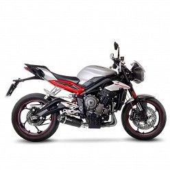Escape Leovince Triumph Street Triple 765 S - R 2017-2019 LV One Evo Carbono