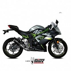 Escape Kawasaki Ninja 125 MIVV MK3 Black