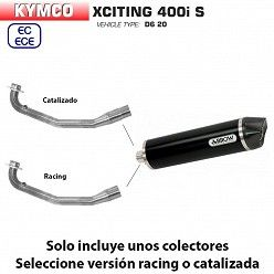 Escape Kymco Xciting 400 S 2019 Arrow Maxi Racetech Aluminio Dark copa Carbono