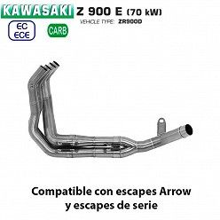 Colectores Kawasaki Z900 A2 2017-2020 Arrow