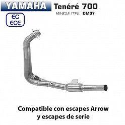 Colectores Yamaha Tenere 700 2019-2020 Arrow Titanio