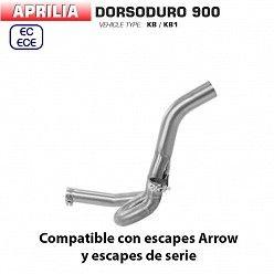 Descatalizador Aprilia Dorsoduro 900 2017-2019 Arrow inox