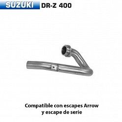 Colector Suzuki DR-Z 400 S / SM / E (colector diametro 38mm) 2001-2008 Arrow racing