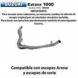 Colectores Suzuki Katana 1000 Arrow Inox