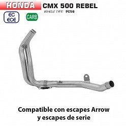 Colectores Honda Rebel 500 2020 Arrow Inox