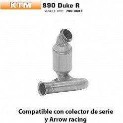 Descatalizador KTM 890 Duke R Arrow