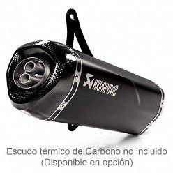 Escape Vespa GTS 125 Super 2009-2016 Akrapovic Inox Negro