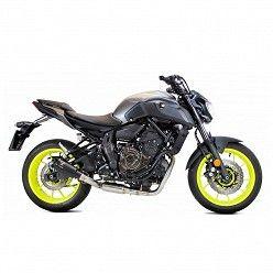 Escape completo Yamaha MT07 2014-2020 Ixrace MK2 Black Inox